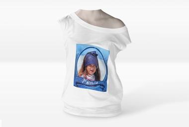 Damen Shirt mit U-Boot-Ausschnitt