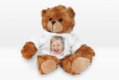 Teddybär mit T-Shirt 18 cm