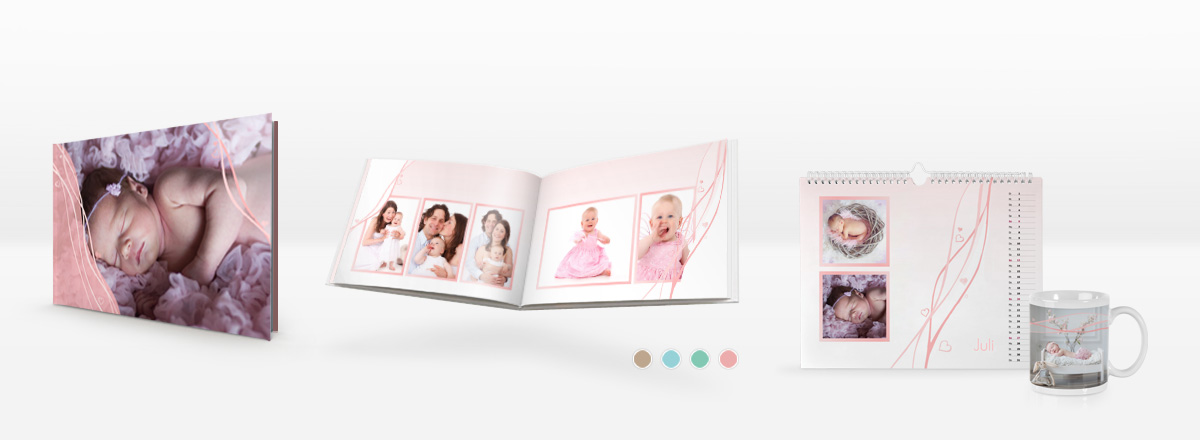 Fotobuch Vorlagen zur Geburt