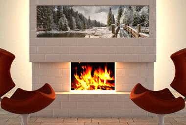 panorama leinwand mit lieblingsfoto. Black Bedroom Furniture Sets. Home Design Ideas