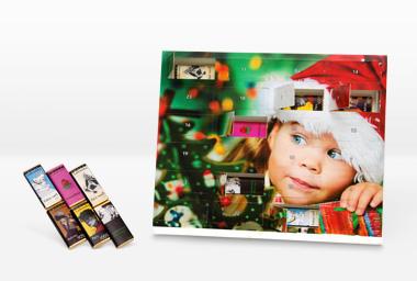 Calendrier de l'Avent photo 30x25 (chocolat Zotter)