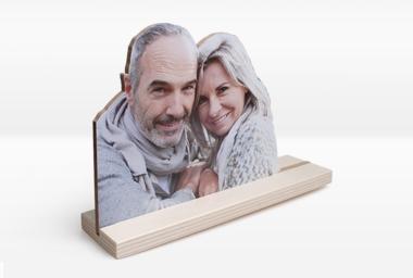 Figurine en bois photo 20x30