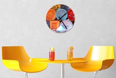 Glas - Wanduhr Durchmesser 29 cm