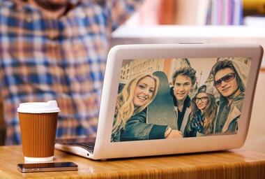 Laptop Aufkleber groß