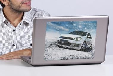 Laptop Aufkleber mittel