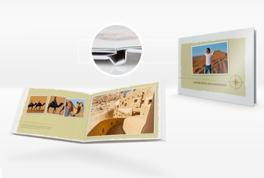Livre photo PREMIUM 20x30 cm - Format horizontal ou vertical - Couverture rigide - Tirage argentique - Ouverture à plat