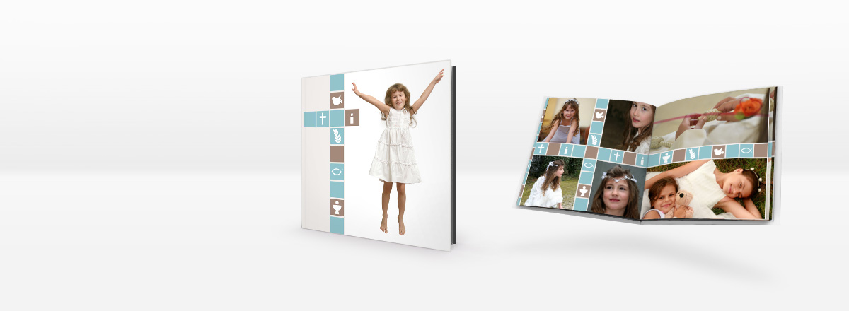 Designvorlagen für Taufe, Erstkommunion und Firmung