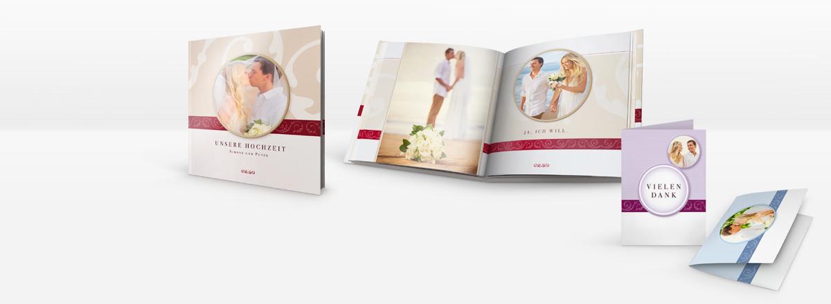 Grusskaren und Fotobücher für Ihre Hochzeit