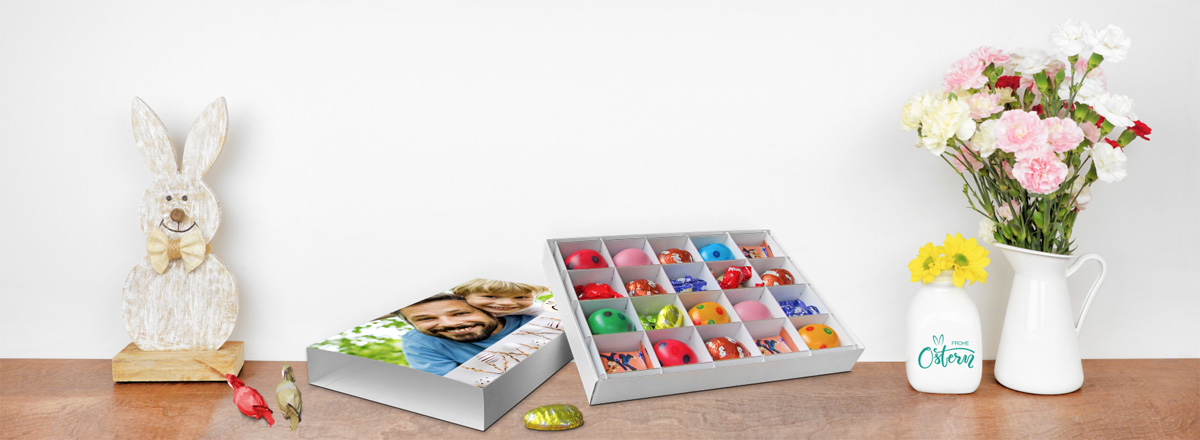 Oster-Geschenkbox bedruckt mit Foto