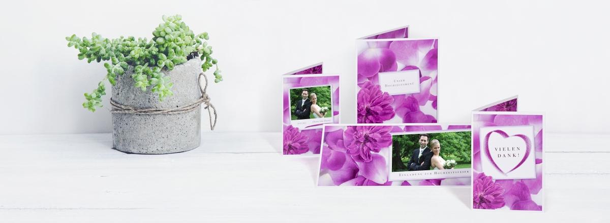 Individuelle Hochzeitskarten - Tischkarten und mehr