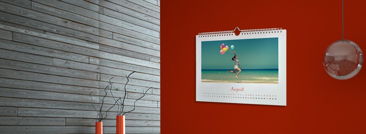 Wandkalender im Querformat