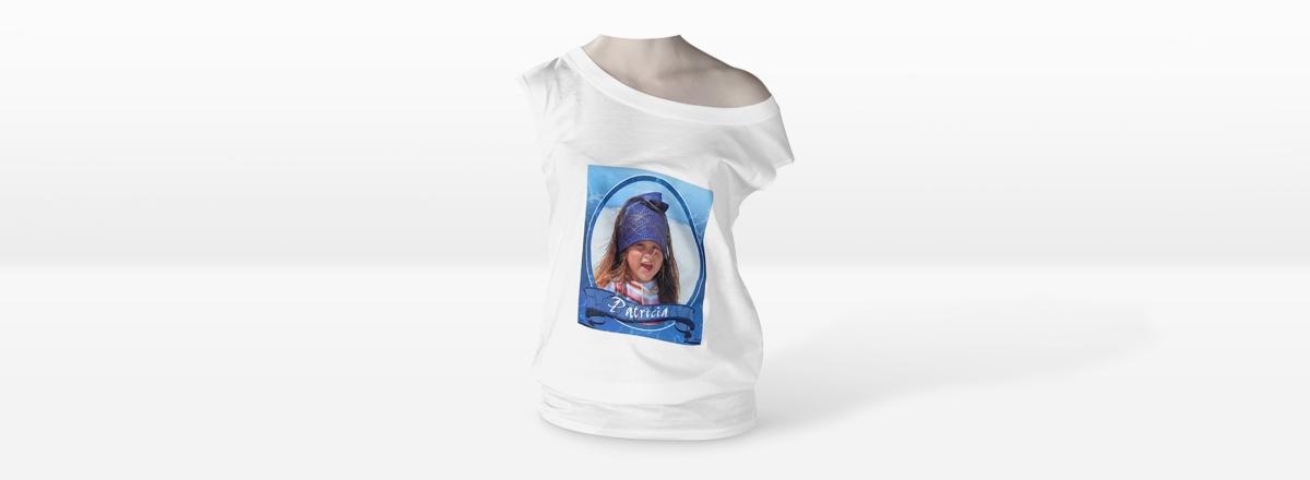 Damen Shirt mit U-Boot-Ausschnitt selbst gestalten