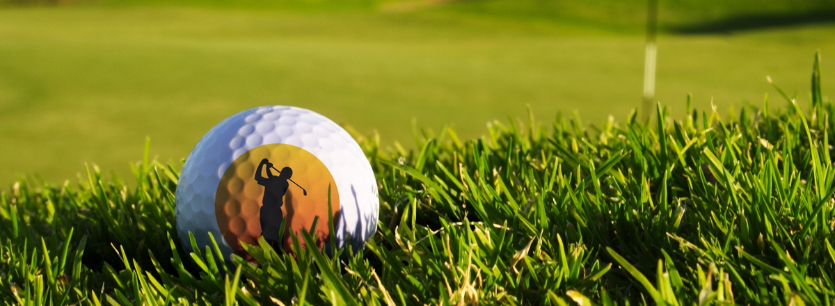 Golfball mit Foto
