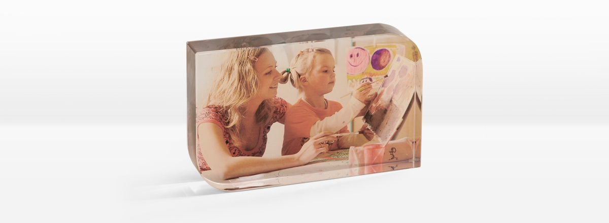 Foto-Kristall mit Fotodruck