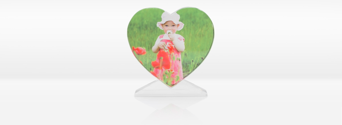 Foto-Kristall Herzform