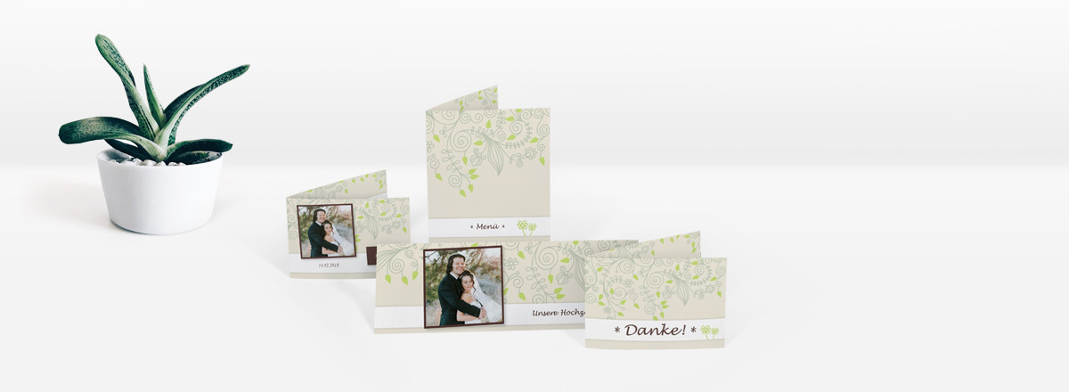 Individuelle Hochzeitskarten - Einladungen und mehr