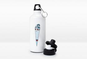 Alu-Trinkflasche mit eigenem Motiv