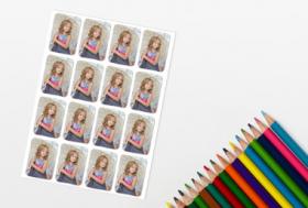Foto-Sticker für Schulhefte, Freundebücher und mehr