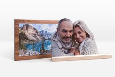 Holzfigur und Holzbild