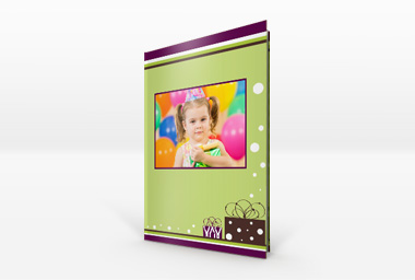 Designvorlagen für Geburtstags-Fotobuch