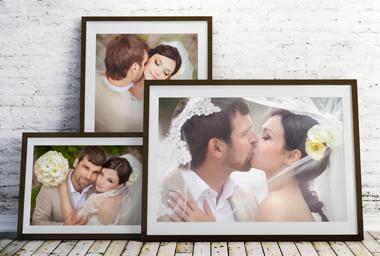 Exklusivdruck - Ihr Hochzeitsfoto auf Bütten-Papier