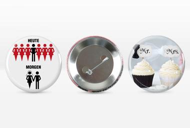 Foto-Button - kreative Geschenkideen für die Hochzeit