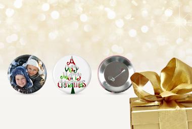 Foto-Button als Geschenkanhänger