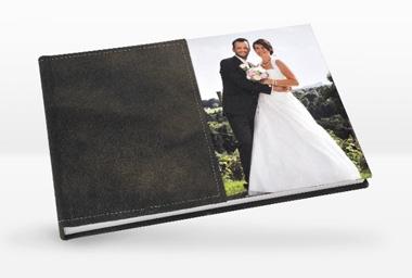 Fotobuch auf Bütten-Papier und Ledereinband