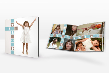 Fotobuch mit Vorlagen für Firmung, Tauf und Erstkommunion