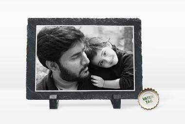 Besonderes Geschenke zum Vatertag - bedruckte Schiefersteinplatte