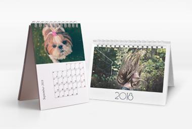 Tischkalender mit Foto im Hoch- und Querformat
