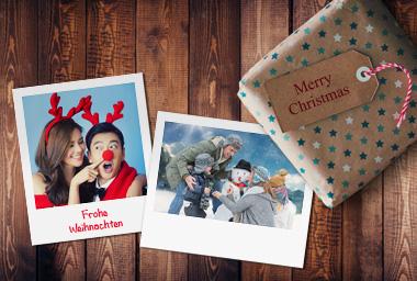 Fotos im Polaroid-Stil als Geschenkkarten