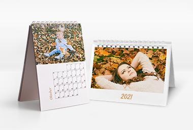 Tischkalender mit Foto im Querformat