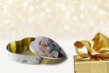Weihnachten - Keksdose mit Foto