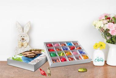 Bedruckbare Oster-Geschenkbox für kleine Geschenke